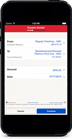 Mobile Banking Features Offered By Bank Of America Small
