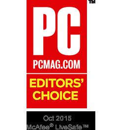 PC MAG Editors' Choice 10/2015