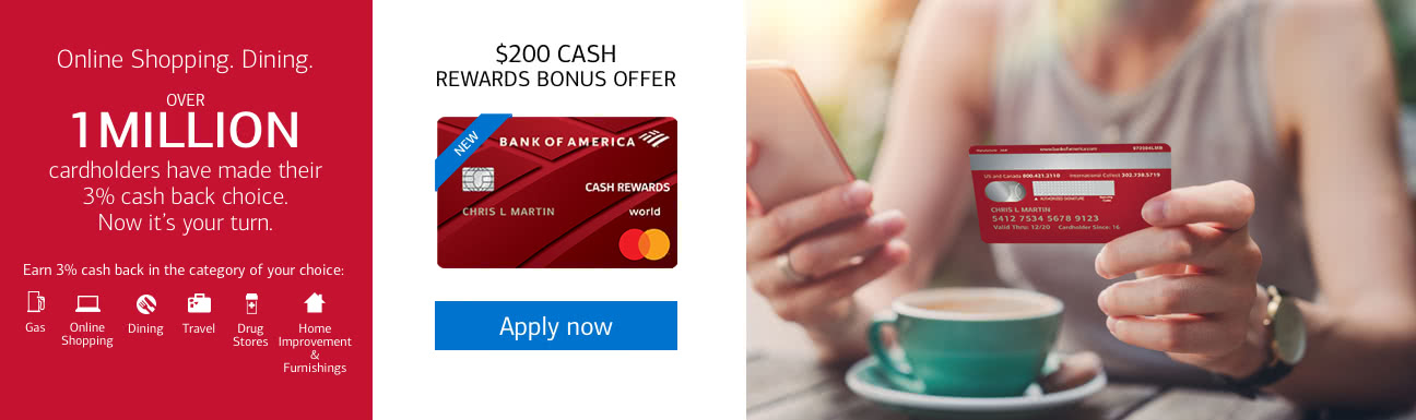 72981411f201 Online shopping. Dining. Over 1 million cardholders have made their 3% cash  back