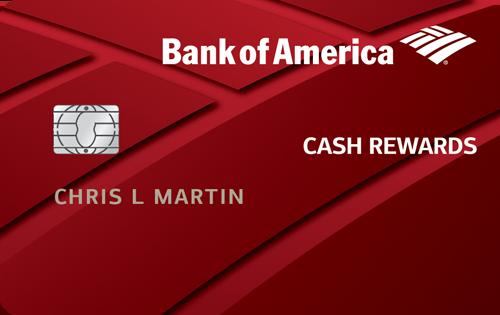 Bank Of America Cash Rewards Credit Card Cash Back