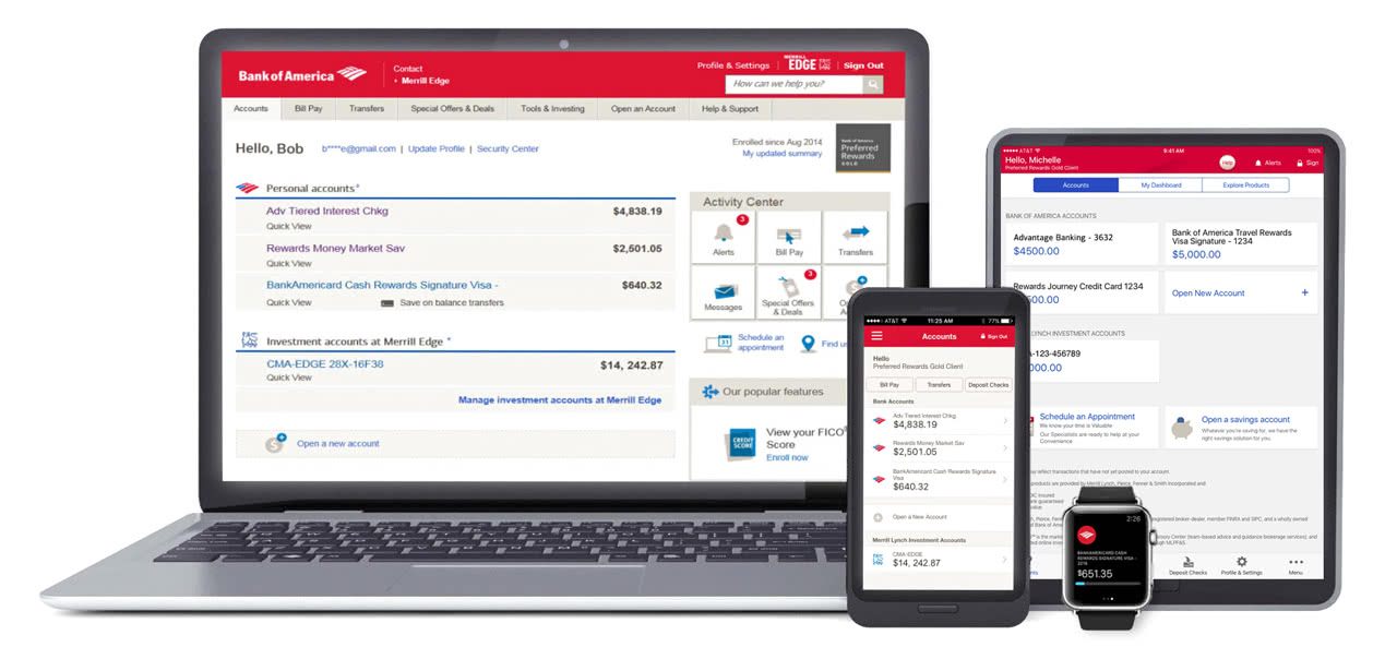 Mobile Banking Online Features From Bank Of America