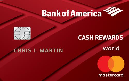 Bank of America cash rewards card