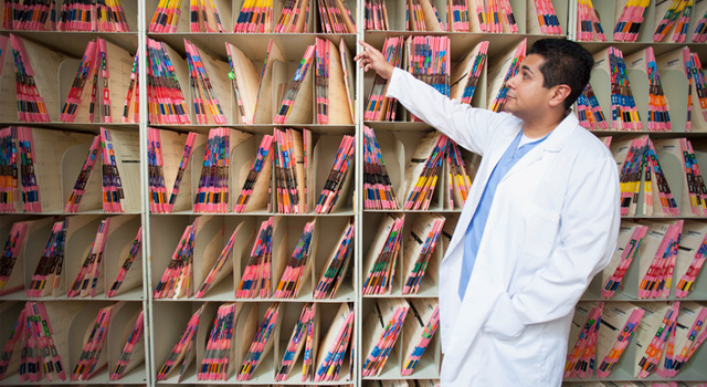 dental records in dental office
